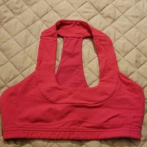 Lululemon Pink racerback sports bra size small